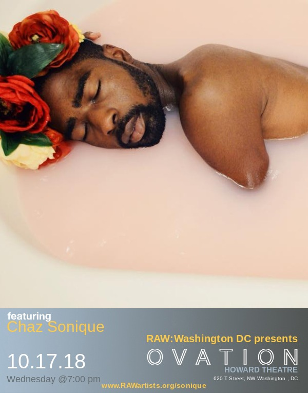 Chaz Sonique-RAW Washington DC presents OVATION